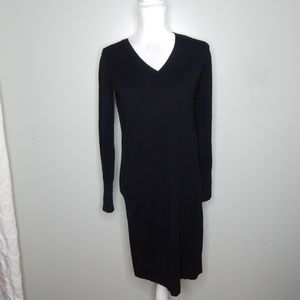 everlane women black cashmere sweater dress SZ XS
